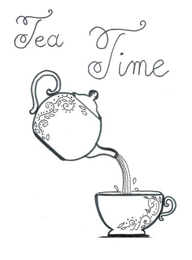 page de garde anglais tasse thé tea time